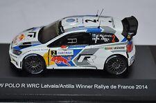 VW Polo R WRC #2 JM Latvala winner Rallye de France 2014 - White Box 1/43 WBR013