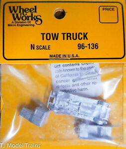 Wheel Works N #96-136 ( Tow Truck Kit) Light Cast Metal (1:160th Scale) 96136