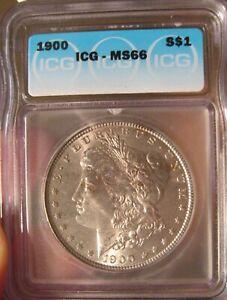 1900 Morgan Silver dollar - ICG MS 66, Tougher Date 3496