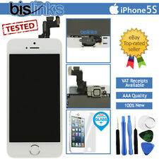 White iPhone 5S Screen Replacement LCD Digitizer Touch Home Button Camera Tools