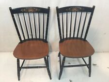 Hitchcock chair co Black/harvest Prospect side Chairs used hitchcock dot com