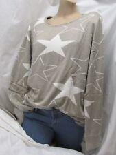 Mocca Pulli STERN STAR Pullover beige cremeweiß xl  42/44 butterweich NEU