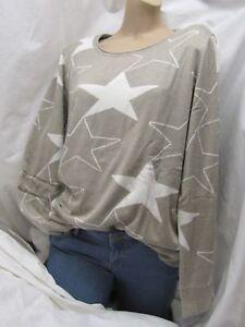 Mocca Pulli STERN Star XXL 44/46 Pullover beige cremeweiß  butterweich NEU
