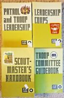 1972 Boy Scout Patrol & Leadership Leadership Corps Troop Committee ScoutMaster