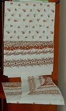 "Set of 2 100% Cotton Queen Flat Sheet 60"" x 86"" and Square Pillow Case India NEW"