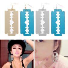 2 Pairs/Lot Acrylic Punk Razor Blade Drop Earrings Fashion Jewelry Accessories