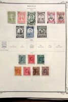BOLIVIA COLLECTION IN ALBUM PAGE 1897-1899 (BOL2)