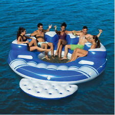Bestway CoolerZ Blue Caribbean  6-Person Floating Island Lounger Raft Pool Toy
