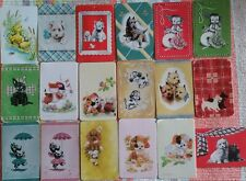 18 vintage bulk DOG swap cards in mixed conditions