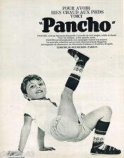 PUBLICITE ADVERTISING 055  1967  PANCHO   chausson-chaussette enfant garçon