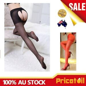 Sexy Women Open Crotch Crotchless Sheer Pantyhose Silk Stockings Tights One size