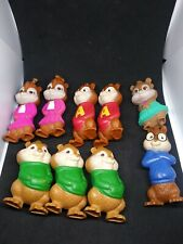 ALVIN AND THE CHIPMUNKS + CHIPETTES lot of 9  2009 McDonalds toys talking