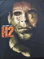 H2 Halloween 2 Rob Zombie Tshirt Black Michael Myers Rare - Read For Measurement