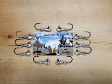 10 PACK! HERRING JIG HEAD 1/8oz WITH #1 VMC 7161BN HEAVY HOOKS, SWIMBAITS