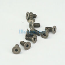 LOT 20 M5 x 12mm GR2 Countersunk Titanium Hex Socket Cap Screw Bolts