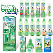 More details for tropiclean fresh breath dog & puppy dental kits oral care gel foam toothbrush
