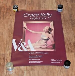 Rare V&A V & A London museum exhibition poster Grace Kelly : Style  Icon