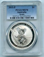 2015-P Australia 1 oz Silver Koala PCGS MS70 Certified 999 One Ounce BP302