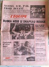 L'Equipe Journal du 30-31/8/1986; Bubka Hisse le drapeaux rouge/ Nantes, OM, PSG