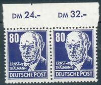DDR ,5x Mi.-Nr.339**, dabei 2xDoppelstück,1x Oberrand Rand,