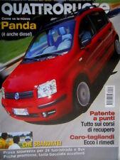 Quattroruote  575 2003 Nuova Panda. Poster Allegato. Nuove Subaru. Alfa GT [Q71]