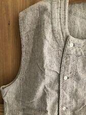 Rare vintage French woman WORK WEAR cotton FLANEL blouse sleeveless c1930