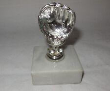 Marble Base Silver Tone Baseball T Ball Glove Child's Award Trophy Baseball Gift