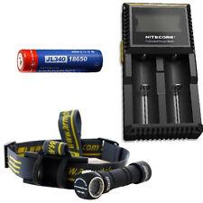 Combo: Armytek Wizard Pro v3 XHP50 (White) Headlamp w/ D2 Charger & 3400 Battery