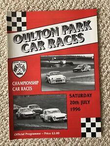 OULTON PARK 20th JULY 1996 BRSCC CHAMPIONSHIP CAR RACES PROGRAMME