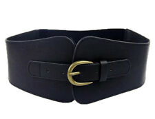 Ladies Vintage Faux Leather Totem Elastic Stretch Super Wide Corset Cinch Belt