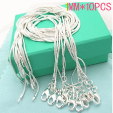 """Wholesale Price 925 Sterling Silver 10pcs Necklace Chain Size Choose 16""""-24"""""""