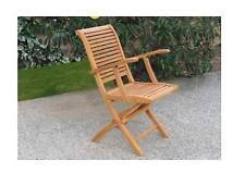 2 Sedia sedie poltrona legno eucalipto pieghevole con braccioli california coppi