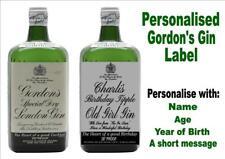 PERSONALISED GIN BOTTLE LABEL BIRTHDAY NAME STICKER ANY OCCASION ORANGE MAN04