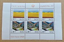 Timbre Stamp Portugal 1977 YT 1341 1342 en bloc BF 20 EUROPA CEPT Neufs