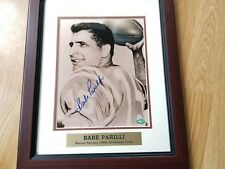 SIGNED NEW ENGLAND PATRIOTS BABE PARILLI Framed Photo 13 1/2 X 16 COATS & HOLOGR
