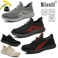 Mens Sports Work Safety Shoes Indestructible Steel Toe Boots Breathable Sneakers