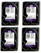 """LOT 4X HDD 2TB SATA WESTERN DIGITAL  Purple ,WD20PURX cctv surveillance 3,5"""""""