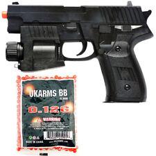 P226 SPRING AIRSOFT HAND GUN PISTOL w/ 1000 BBs LASER SIGHT FLASHLIGHT 6mm BB