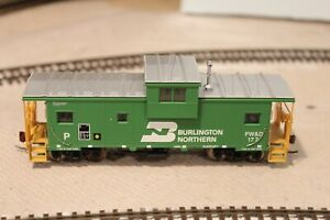 BN FW&D BNSF Burlington Northern Atlas Wide Vision Cupola Caboose #177 HO Scale