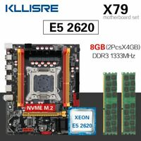 Kllisre X79 Chipset Motherboard Set LGA2011 Combos Xeon E5 2620 8GB DDR3 1333Mhz