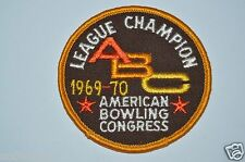 WOW Minty Vintage 1969 - 70 ABC League Champion American Bowling Congress RARE