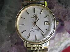 Vintage Omega Seamaster 1342 Quartz Gold Filled Wrist Watch w/Bracelet