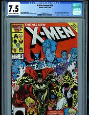 X-Men Annual #10 CGC 7.5 1986 1st X-Men Longshot & X-Babies Marvel Comic B22