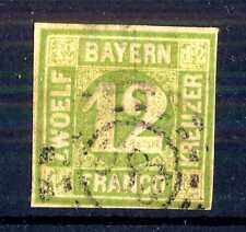 GERMAN STATES  -  BAYERN - 1862 - Grande cifra in cerchio. E5330