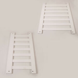 HEADBOARD FOOTBOARD SINGLE BED WOOD WHITE FINISH REPLACEMENT SPARE PART