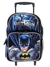 "BATMAN 16"" Large Roller Backpack Wheels backpack NEW Liensed-36394 …"