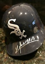 Yoan Moncada signed Chicago White Sox Mini Helmet Autograph