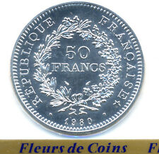 RARE FDC : 50 francs HERCULE argent 1980 neuve/scellée