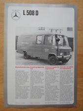 MERCEDES BENZ L508D Fire Fighting Van Vehicle 1974 Leaflet Brochure