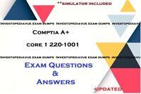 CompTIA A+ Core 1 220-1001 Exam DUMPS Q&A and simulator
